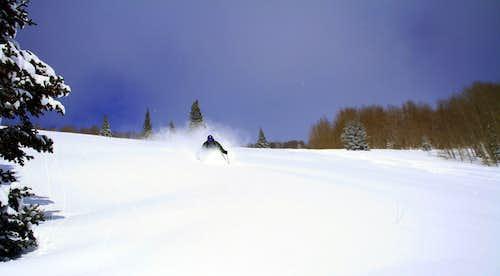 Dan skiing Wilow Fork