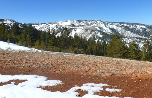 Looking to the western plateau up the Mount Rose Wilderness/Carson Range