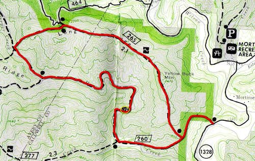 Loop Hike Route