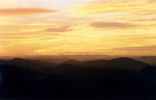 Sunset over Massif de Maures