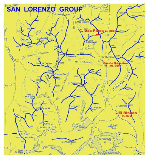 Cerro Dos Picos map (San Lorenzo Group)