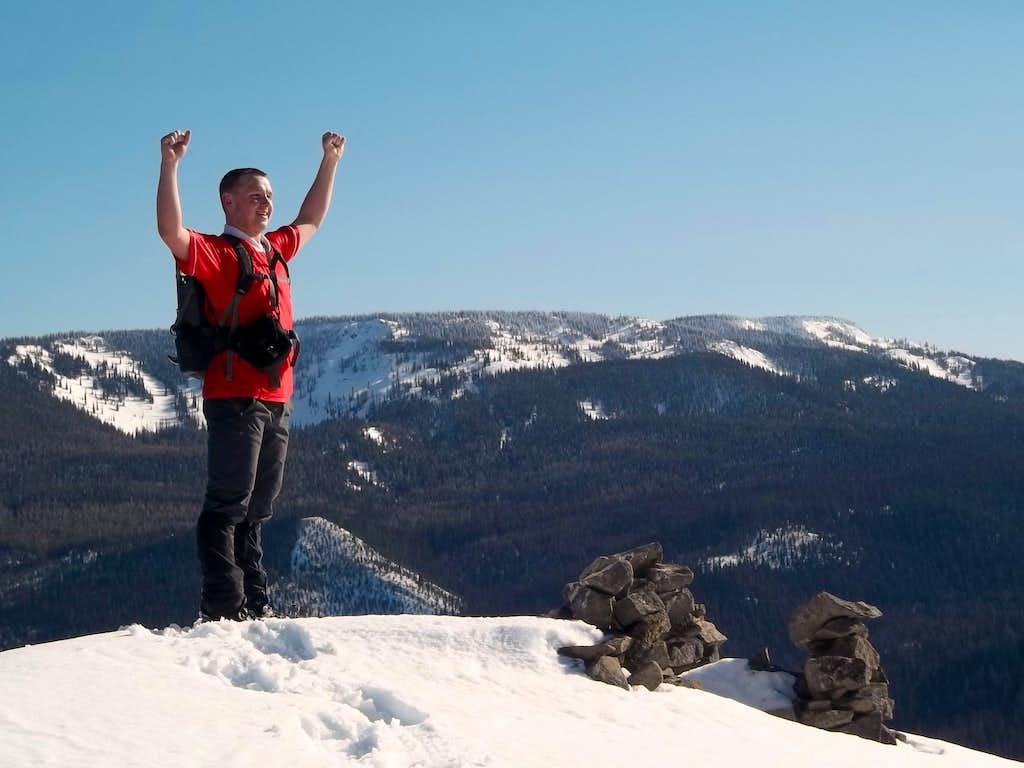 Josh Lewis on the summit