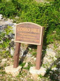 Sign for Como Hill