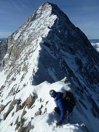 Approaching Capitol Peak's Knife Edge In Winter