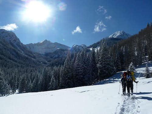 Approaching Capitol Peak Winter