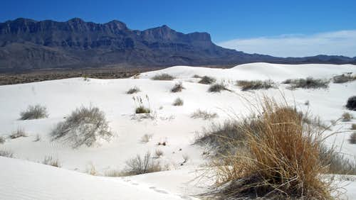 Guadalupes from the Salt Basin Dunes