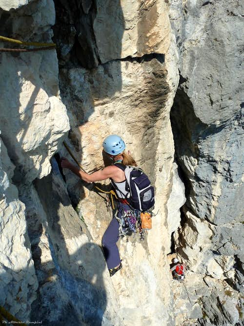 Sarca Valley, Dain - Climbing on Siebenschlafer