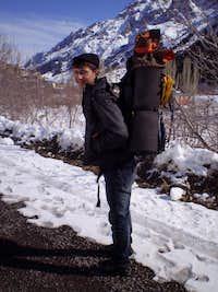 A backpack helper is always welcome