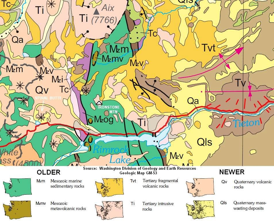 Geologic Map for Ironstone Mountain and Vicinity