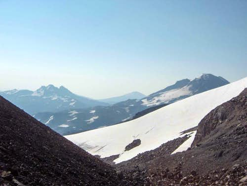 View between North and Middle Sister's saddle