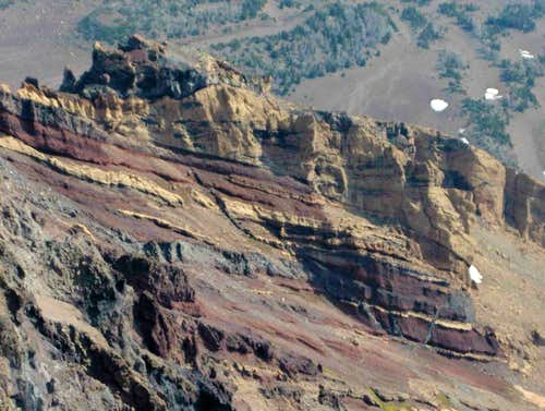 Interesting rock colors of North Sister.