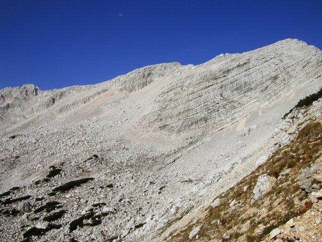The Mojstrovke ridge: from...