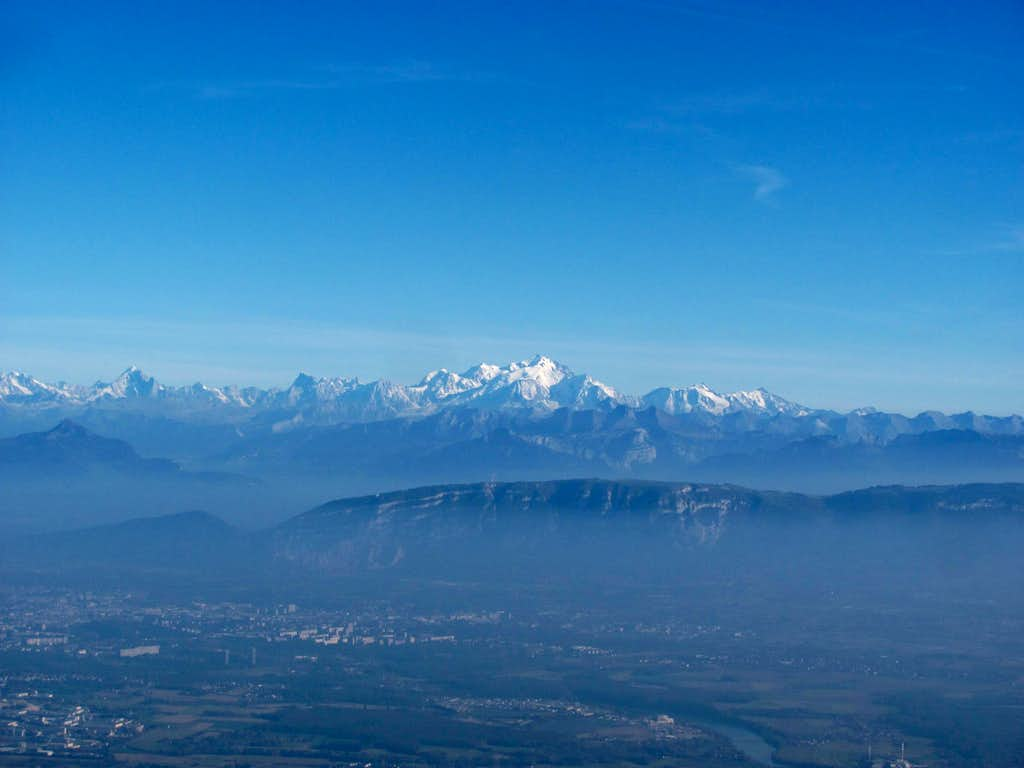 Mont Blanc from Reculet