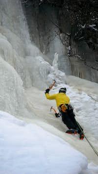 Ice Climbing near Les Contamines