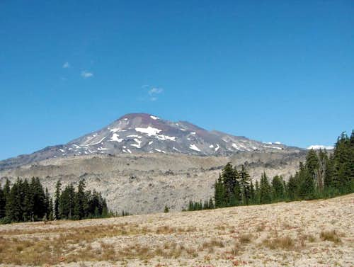 South Sister and lava flow.