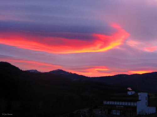 A winter sunset in Val Parma