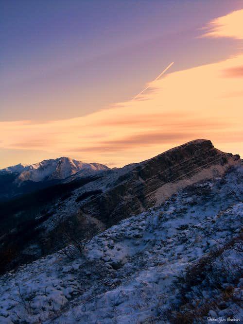 Sunset on Rocca Pianaccia