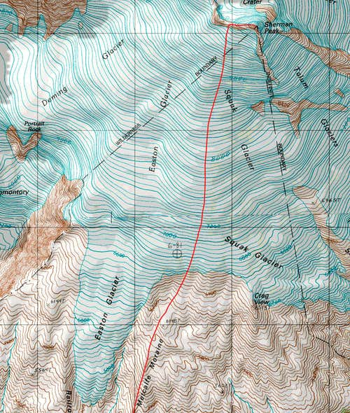 Sherman Peak Topographic Map