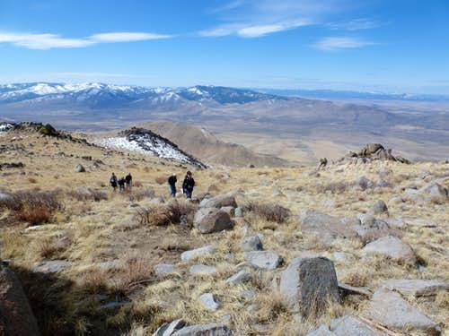 Looking back at the group coming up to Petersen\'s High Point