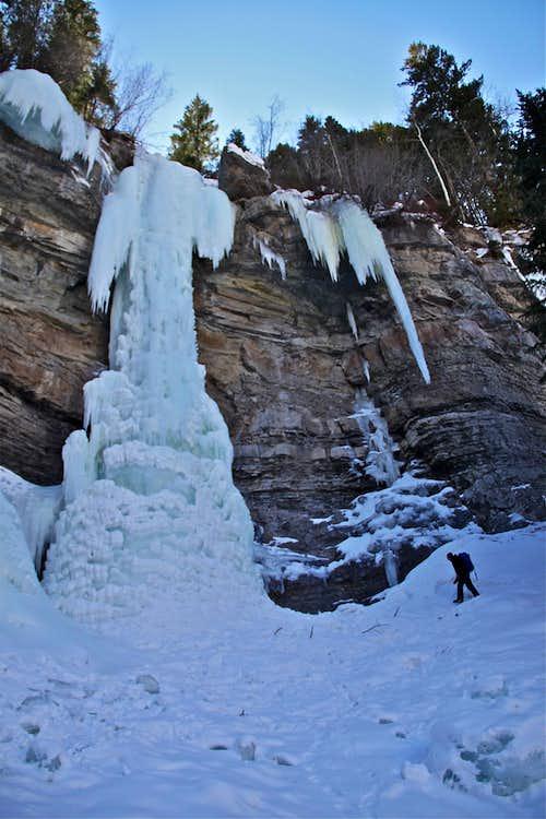 Ice climbing Vail