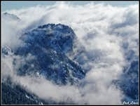 Guye Peak Covered in Clouds
