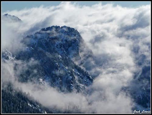 Guye Peak Covered in Clouds