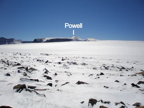 North ridge of Powell