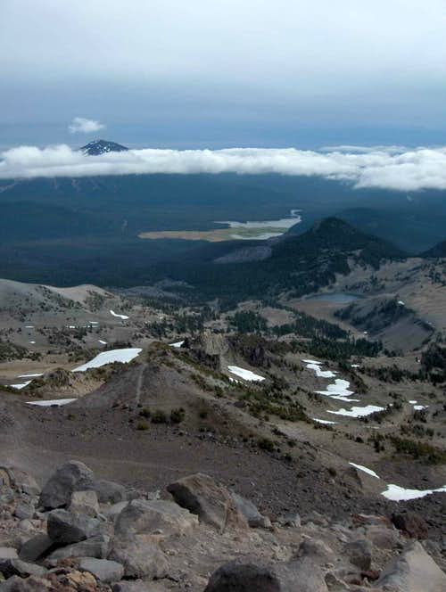 View from about 8500 feet on South Sister.