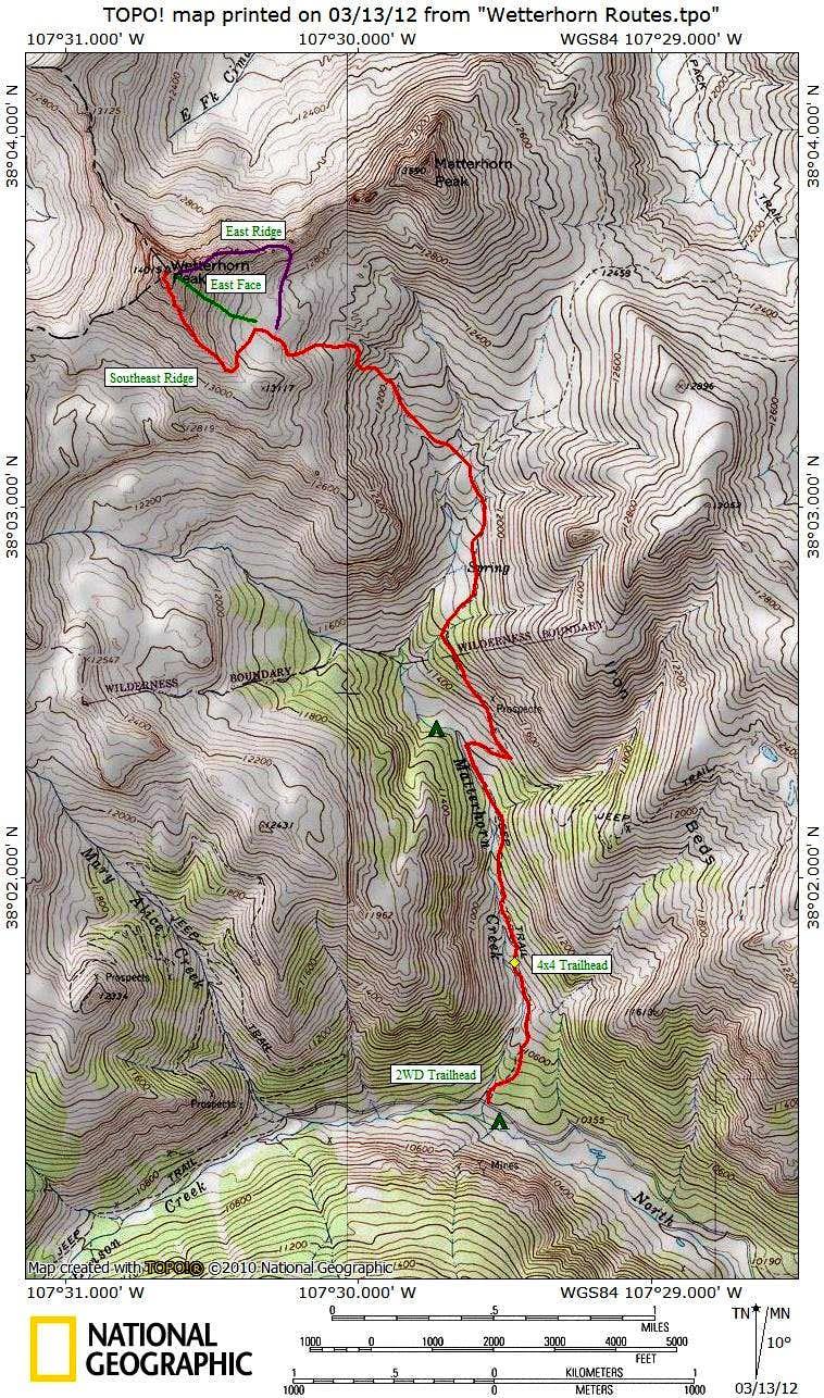 Wetterhorn Routes