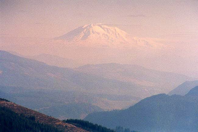 Mt. Adams rises above an...