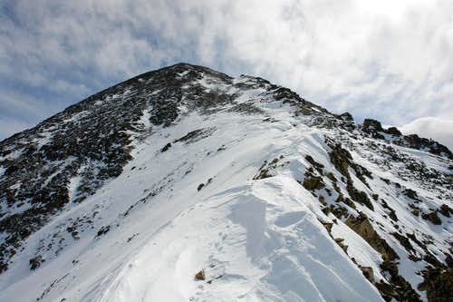 The upper ridge
