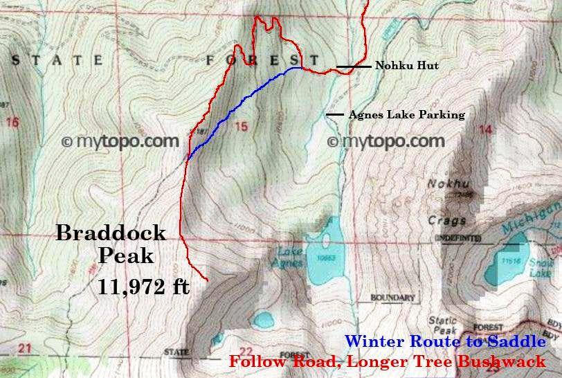 Braddock Peak Map