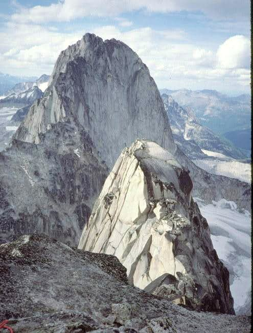Bugaboo Spire from the summit...