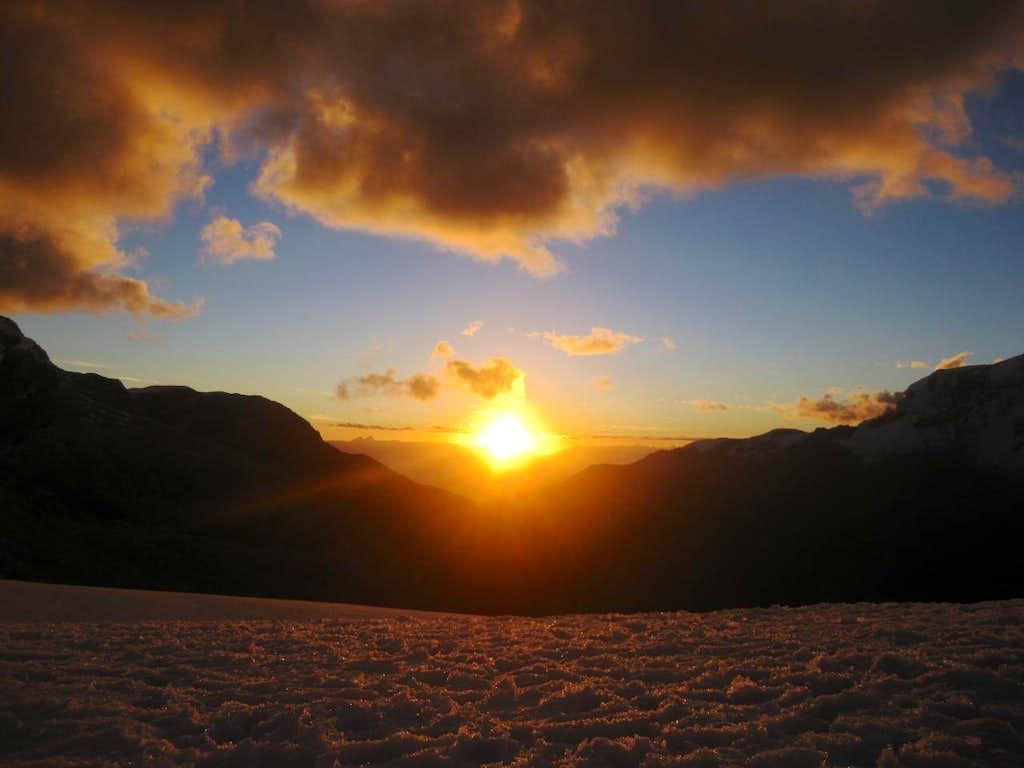 Sunset in the Cordillera Blanca