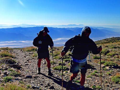 Cresting the Panamint Range