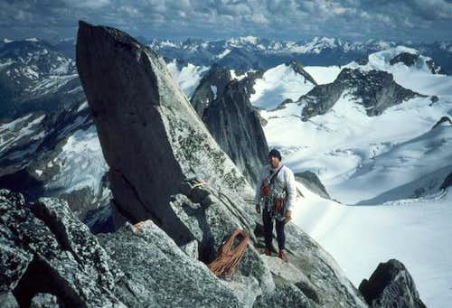 The crux pitch of the Kain...