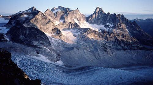 View N from Bugaboo-Crescent saddle
