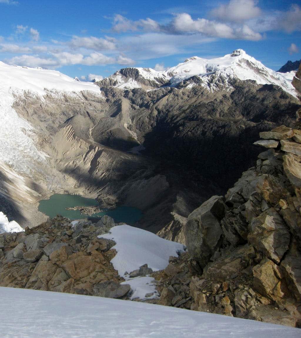 Laguna Toclla and Nevado Ishinca