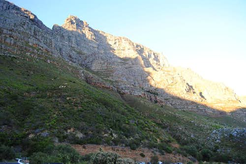 Table Mountain from the bottom of Platteklip Gorge