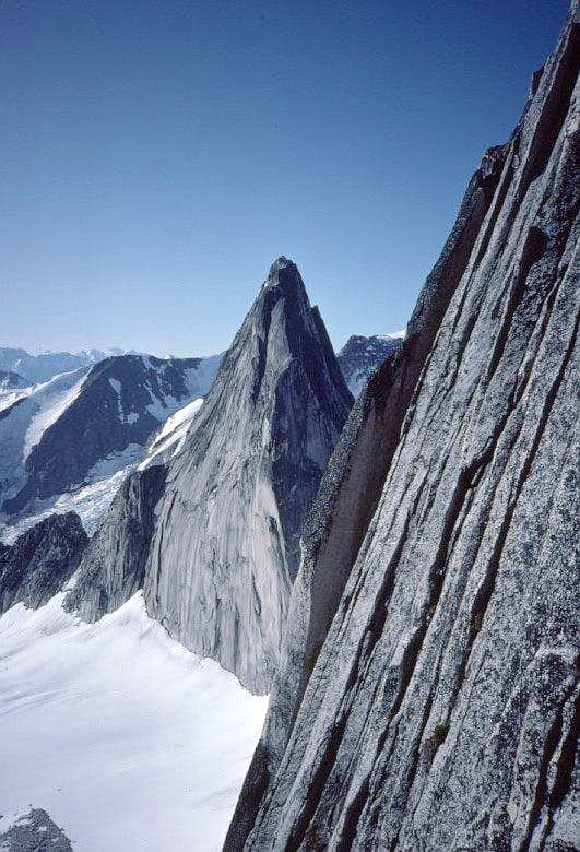 View S from the NE Ridge route, Bugaboo Spire