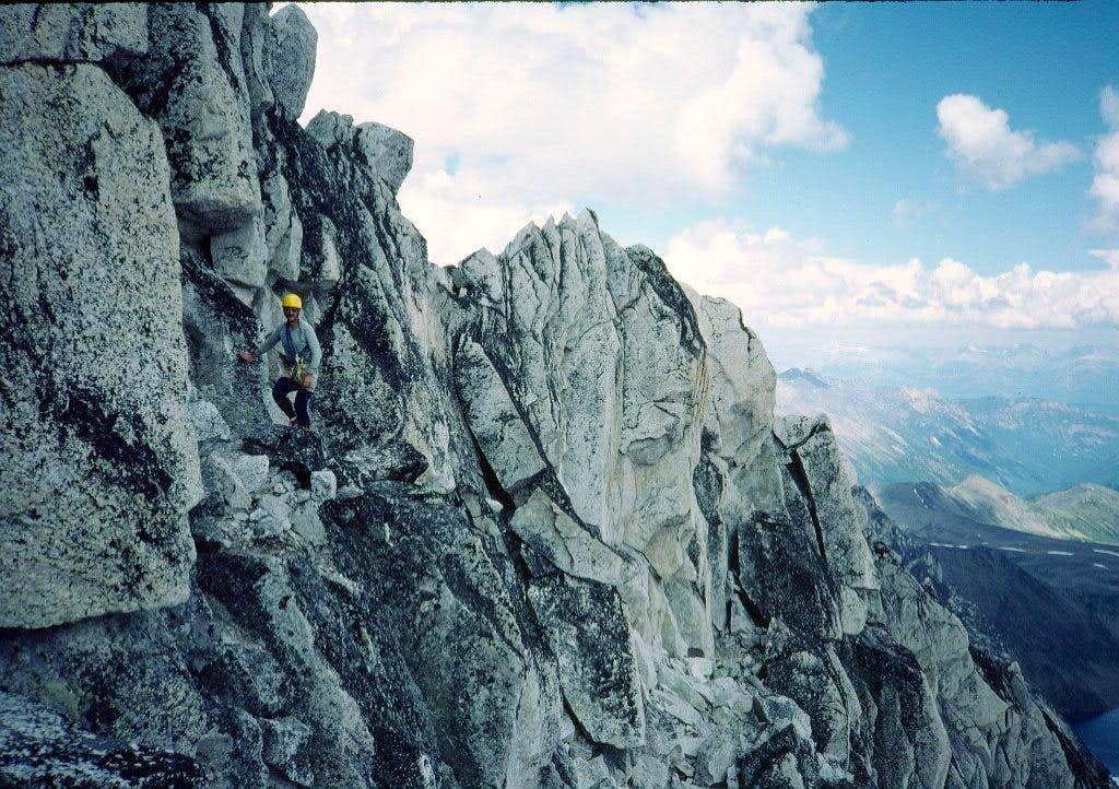 Ledge below Bugaboo summit