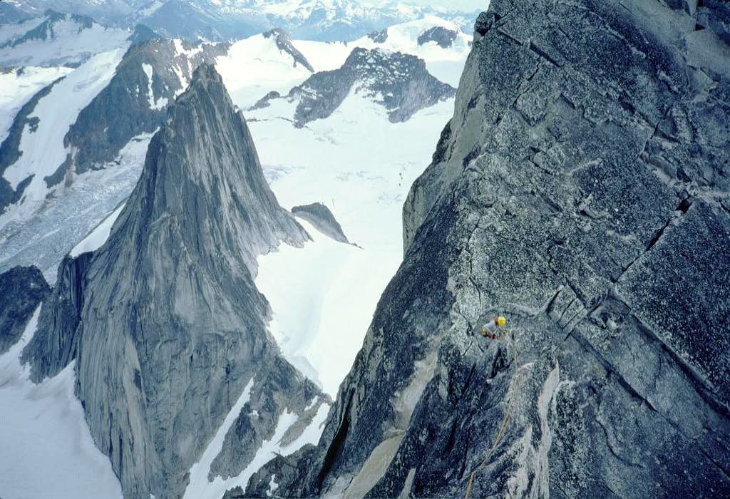 Descending the North Summit