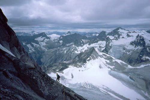 Between Bugaboo's summits