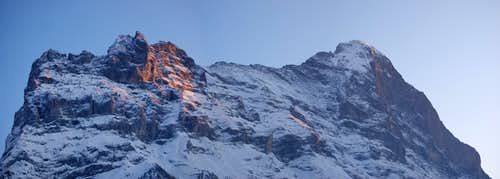 Eiger at sunset