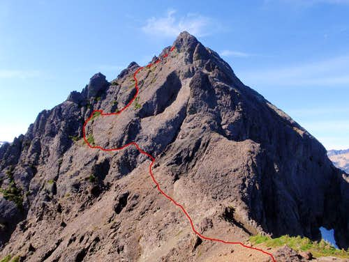 East Peak East Face Route