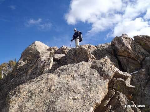Boulder hopping, Northwest Ridge (4)
