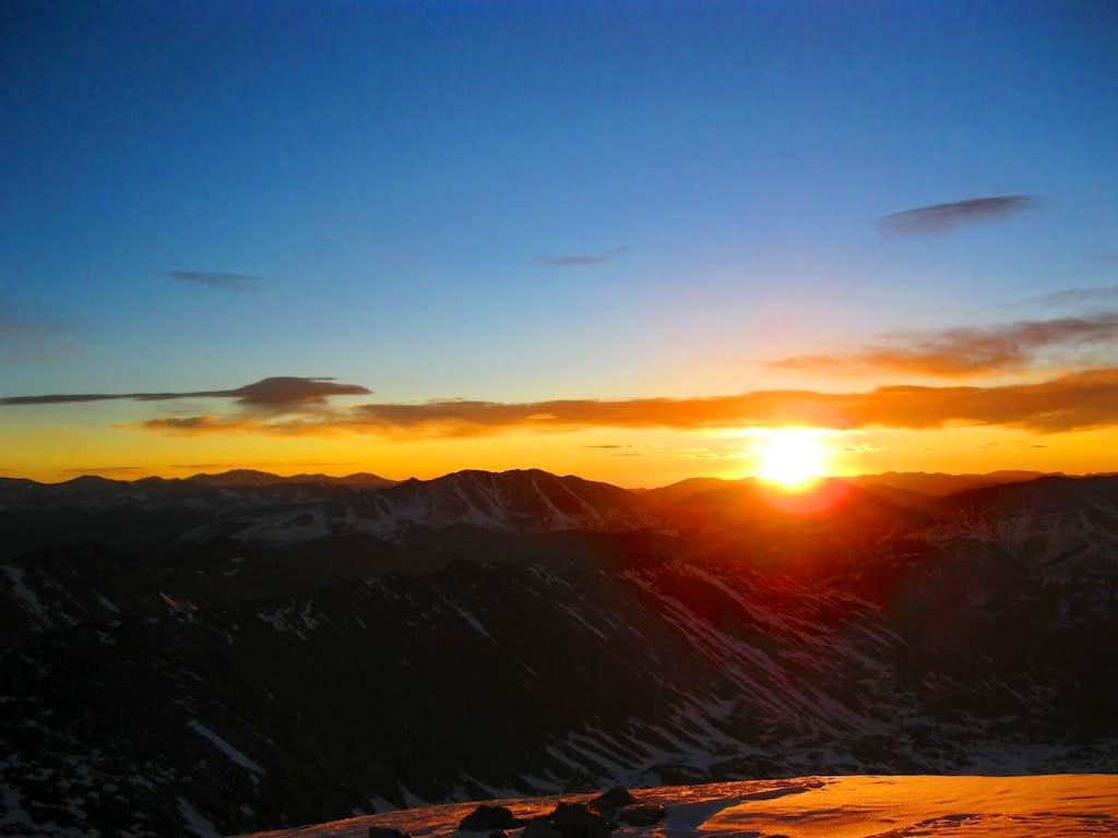 Sunrise on top of Atlantic Peak