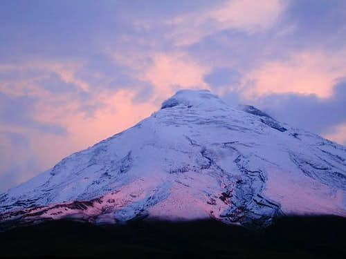 Sunset at Cotopaxi basecamp...