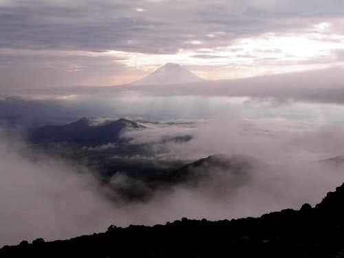 A glimpse of Cotopaxi from...