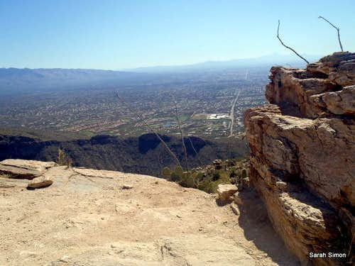 Tucson, Arizona, from the summit